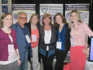 Rheumatoid Patient Foundation - ACR Exhibit Booth & volunteers