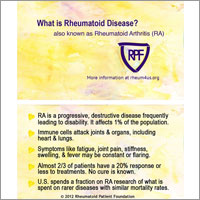 Rheumatoid Disease Awareness Cards