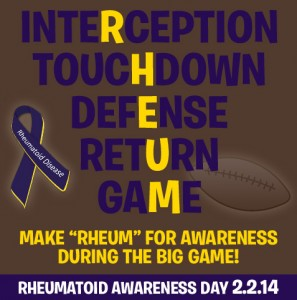 Rheumatoid Awareness Day February 2, 2014