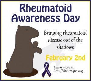 Groundhog Day - Rheumatoid Awareness Day