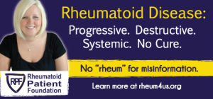 No rheum for misinformation - rheumatoid disease is progressive destructive systemic no cure