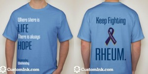 gwensday-wednesday rheumatoid awareness t-shirt
