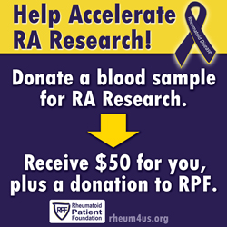 Rheumatoid Arthritis Research - Donate Blood