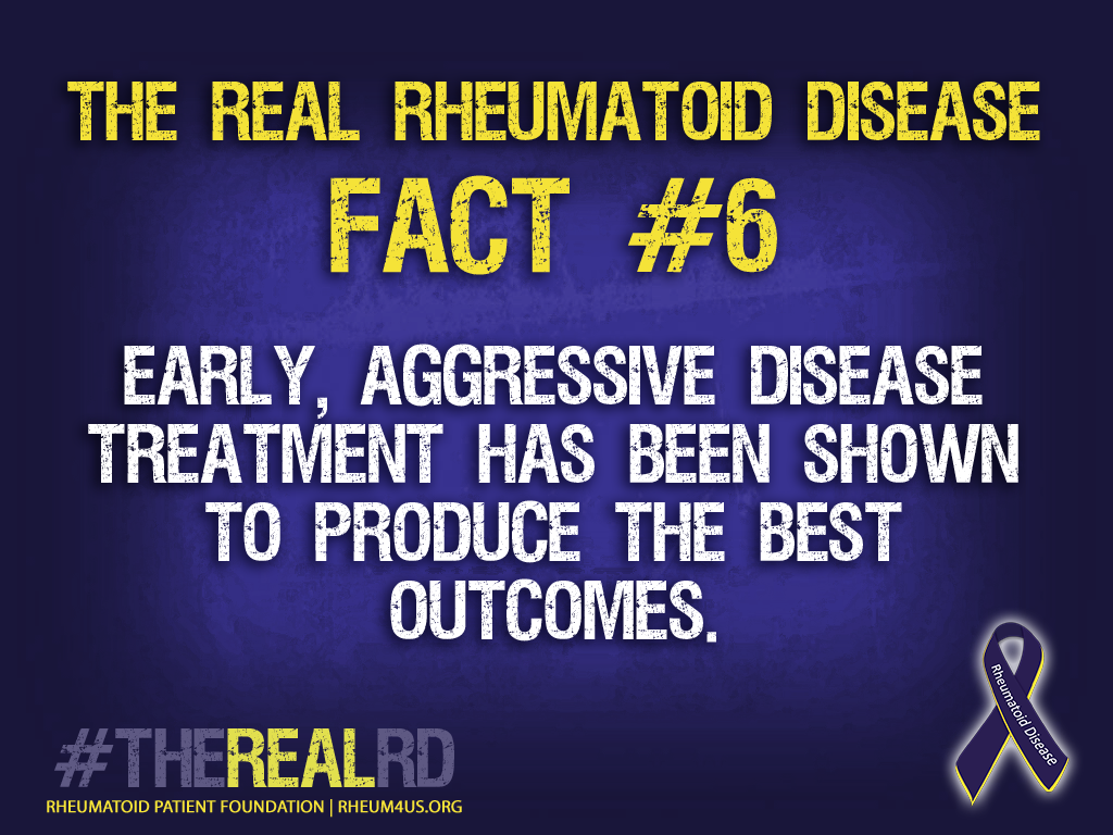 rheumatoid disease - early aggressive treatment produces the best outcomes
