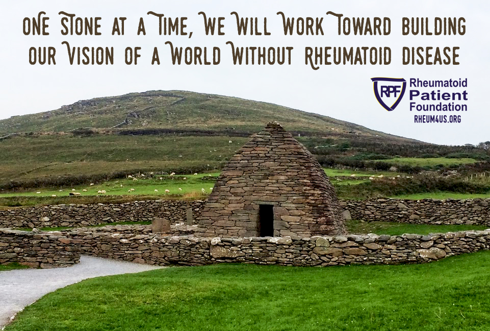 one stone at a time we will work toward building our vision of a world without rheumatoid disease