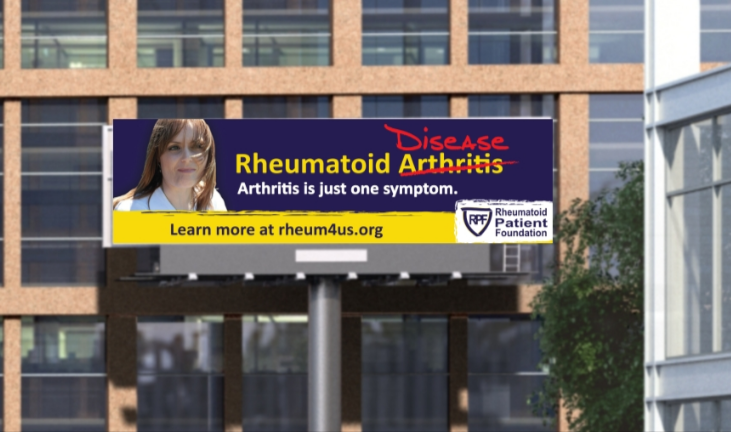 Rheumatoid Arthritis billboard advertisement PSA