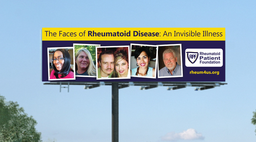 Rheumatoid Arthritis Billboard advertisement PSA Invisible Illness
