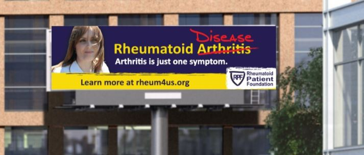 Rheumatoid Arthritis Awareness Billboard for Rheumatoid Disease - Public Service Announcement Chicago Illinois